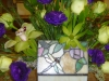 Stained Glass Memory Box with Flowers